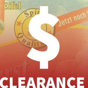 Zu guter Letzt .. Clearance Sale !