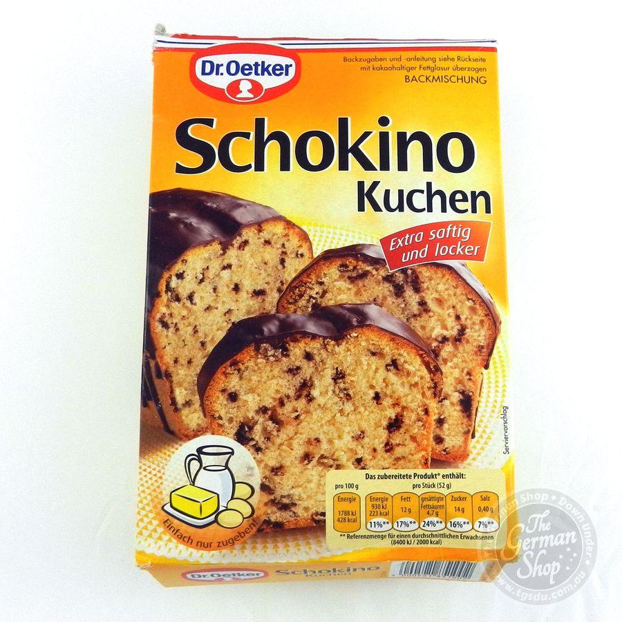 dr oetker schokino kuchen chocolate chip cake mix tgsdu the german shop down under. Black Bedroom Furniture Sets. Home Design Ideas