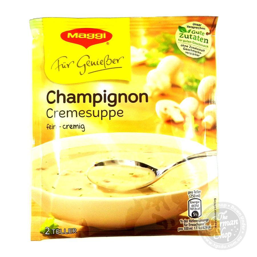 maggi fuer geniesser champignoncreme suppe creamy mushroom soup tgsdu the german shop down. Black Bedroom Furniture Sets. Home Design Ideas
