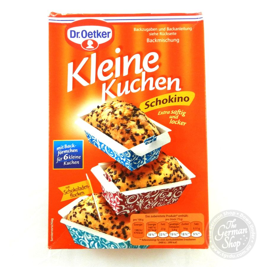 dr oetker kleine kuchen schokino little cakes choc chip tgsdu the german shop down under. Black Bedroom Furniture Sets. Home Design Ideas